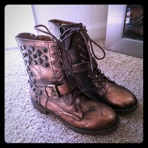 Bronze Punk Boots by Mia